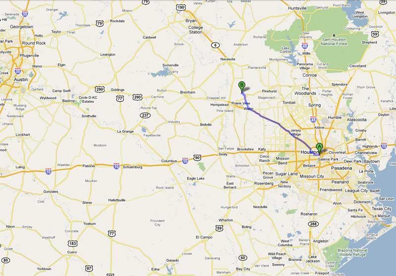 Hempstead Texas Map
